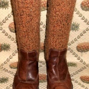 El Naturalista Eco-Friendly Brown Leather Boots